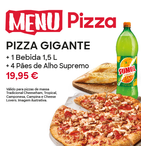 MENU PIZZA GIGANTE